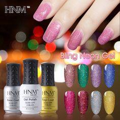 HNM 12 Bling Neon Colors UV Gel Nail Polish Long Lasting Gel Polish Gel Lak Nail Art Gel Varnish Gelpolish Vernis Semi Permanent