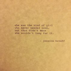 the kind of girl