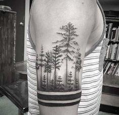 orman kol dövmeleri erkek forest armband tattoos for men #tattoosformen
