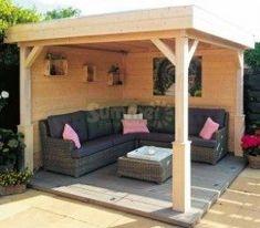 Wooden #gazebo 368 - Pent Roof, Fully Boarded Walls. -Garden Gazebo Ideas-