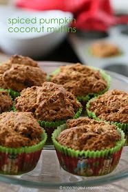 Vegan Pumpkin Coconut Spice Muffins... you can easily leave out the coconut if you don't like it! These are in the oven right now, but the batter is fantastic! No eggs, dairy, etc. I uses organic whole cane sugar unrefined and unbleached as my sweetener. And I added vanilla, because I adore vanilla!