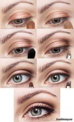 Natural eye make-up.