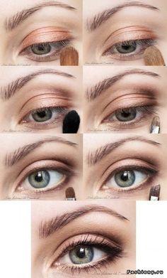 Natural eye make-up.