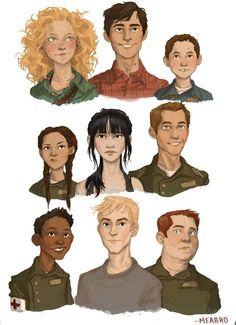 The 5th Wave fan art portraits by Meabh Deloughry