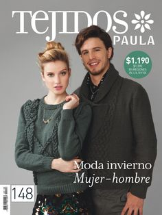 Moda invierno. Mujer- hombre. Revista 148. Loom Knitting, Knit Crochet, Tutorials, Magazine, Pattern, Sweaters, Ideas, Fashion, Crafts