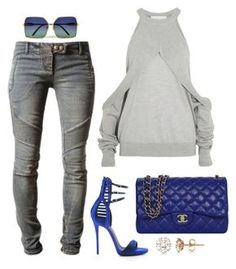 """""""Untitled #578"""" by fashionkill21 ❤ liked on Polyvore featuring Balmain, Dion Lee, Giuseppe Zanotti, Chanel, Wildfox and Allurez"""