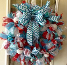 A personal favorite from my Etsy shop https://www.etsy.com/listing/466702766/large-24-christmas-turquoise-blue-red