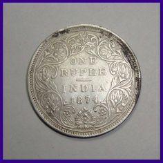 Bikaner State Mughal Issue One Rupee Silver Coin Mata Vaishno Devi, Error Coins, Coins For Sale, Rare Coins, Silver Coins, British, Victoria, Notes, Indian