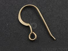 Gold Filled Ear Wire Plain .025/ 22GA Round Wire 1 by Beadspoint, $1.10