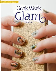 Similar to the newspaper transfer nails. I'm thinking some HP or Firefly nails might be in order. From Modcloth blog