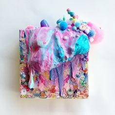 condensed childhood . . . . . . . . #hawaiiartist #blobart #art #slimer #stickers #fairykei #mixedmedia #artistsoninstagram #instartistz #markmaking #slimeusa #vaporwave #assemblageart #contemporaryart #slime #fluffyslime #acrylicpaint #acrylic #abstract #abstractart #abstractexpressionism #illustration #pouringart #drip #vapourwave #vaporart #アート #ペイント #アクリル絵の具 #スライム Textile Sculpture, Soft Sculpture, Textile Art, Sensory Art, Recycled Art, Art Object, Installation Art, Diy Art, Art Inspo