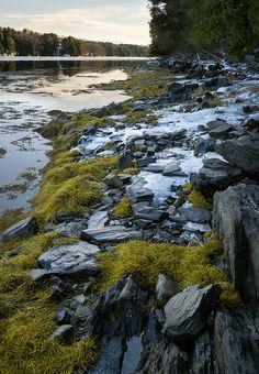Bowdoin Colleges Coastal Studies Center on Orrs Island, Harpswell, Maine.
