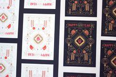 Chinese New Year Card.Design : Chu-Chieh LeePrint : O.OO