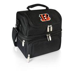Cincinnati Bengals Pranzo Personal Insulated lunch Box w/Digital Print - Black