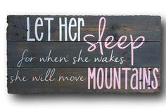 Sleep (Re-purposed Nursery Wall Art)