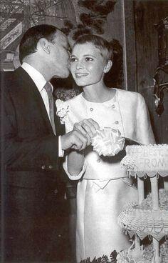 Frank & Mia Farrow wedding