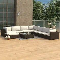 Záhradné sety – až 1067 záhradných sedačiek a zostáv pre vás | Biano X Coffee Table, Sofa Dimension, Coffee Table Dimensions, Brown Cushions, Lounge Suites, Rattan Sofa, Patio Furniture Sets, Distressed Shutters, Outdoor Lounge