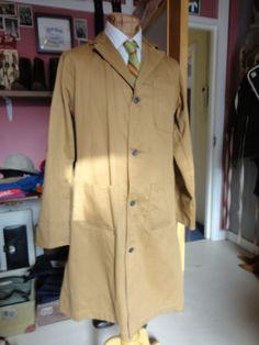 Vintage 1960s sanforized shop coat workwear by TheDustbowlVintage, £29.00