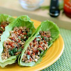 Asian turkey lettuce wraps HealthyAperture.com