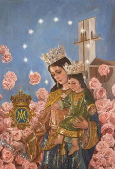 ::RAÚL BERZOSA pinta 50 aniversario de Maria Auxiliadora (La Palma del Condado, Huelva).