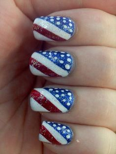 Forth Of July Nails by Ashleyness from Nail Art Gallery
