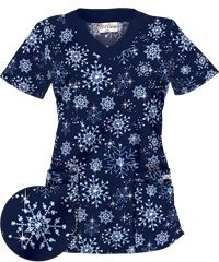 Get festive with our exclusive Uniform Advantage Christmas scrubs & holiday scrubs. Shop now before our Christmas print tops are all gone. Vet Scrubs, Medical Scrubs, Christmas Scrub Tops, Navy Blue Scrubs, Scrubs Uniform, Work Attire, Work Outfits, Halloween Prints, Nursing Clothes
