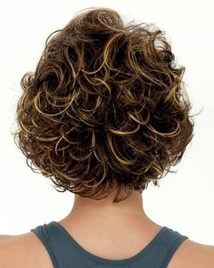 Curly Hair With Bangs, Haircuts For Curly Hair, Curly Hair Cuts, Short Curly Hair, Short Bob Hairstyles, Hairstyles With Bangs, Short Hair Cuts, Easy Hairstyles, Curly Hair Styles