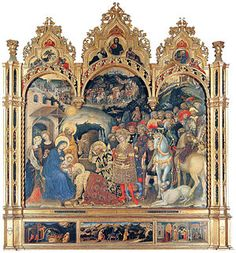Gentile da Fabriano (1370-1427):  Early Italian Renaissance. Painter in the International Gothic Style. This is better image (1423).