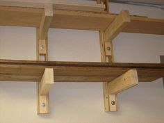 Lumber storage rack For those of you who do some woodworking. Here is a great way to store your lumber in your workshop or garage. Mine is only 2 shelves high but.
