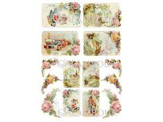Декупажные карты Calambour DGE 156, Весенние открытки, дети,ангелы, цветы, купить - магазин АртДекупаж