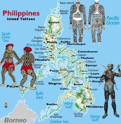 Filipino Tattoos: Mark of the Four Waves tattoos pictures tattoos tribal tattoos sun Filipino Tribal Tattoos, Tribal Tattoos For Women, Asian Tattoos, Polynesian Tattoos, Ethnic Tattoo, Samoan Tribal, Mindoro, Chris Garver, Bohol