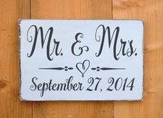 Wedding Sign Rustic Mr and Mrs Sweetheart Table Decor Personalized Gift Wooden Gift Bride Groom Shower Wedding Day Date Woodland Rustic Chic