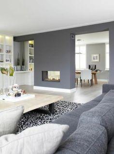 Wohnzimmer Grau Streichen modernes wohnen mbel moderne innovative luxus interieur ideen Wandgestaltung Grau Wohnzimmer Design Sofa Sessel Teppich Kamin