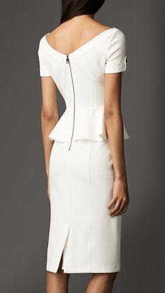 Tailored Pleat Peplum Dress   Burberry.
