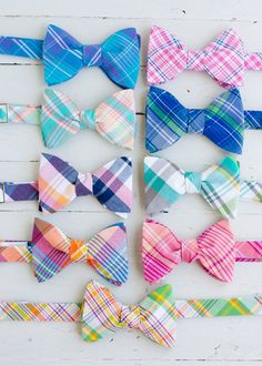 The Beau men's freestyle preppy plaid bow by thebelleandthebeau
