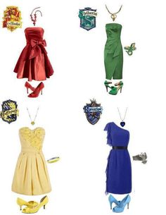 Harry Potter Houses Fashion! I love them all!