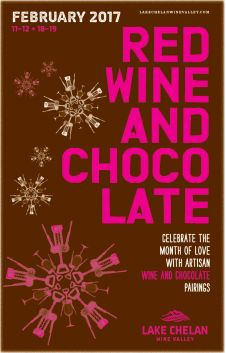Red Wine and Chocolate in the Lake Chelan Wine Valley « February 11-12 & 18-19, 2017