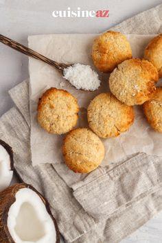 Les biscuits à la noix de coco sont une pâtisserie facile à préparer au Thermomix. #recette#cuisine#biscuit #noixdecoco#patisserie #robot #robotculinaire #thermomix Robot, Desserts, Walnut Cookies, Cooking Recipes, Tarts, Tailgate Desserts, Deserts, Postres, Dessert