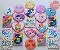 My Little Pony birthday cookies
