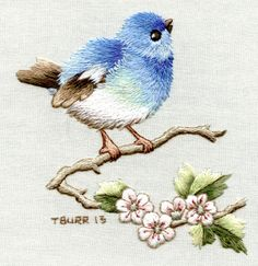 Embroidery Patterns Australia many Embroidery Patterns For Quilts within Embroidery Stitches Straight Line near Embroidery Designs Jackets Embroidery Designs, Paper Embroidery, Embroidery Needles, Crewel Embroidery, Hand Embroidery Patterns, Vintage Embroidery, Bird Patterns, Embroidered Bird, Thread Painting