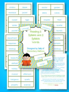 Elementary Matters: Everything You Ever Wanted to Know About Syllables. and Then Some - Includes Syllables Freebie Word Study, Word Work, Teaching Reading, Teaching Tips, Learning, Common Core Ela, 3rd Grade Reading, Reading Intervention, Syllable