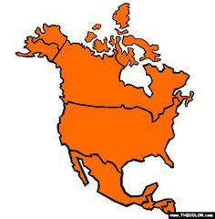 100 Free Continents Coloring Pages Color In This Picture Of An North America And