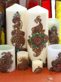Henna Candles: Perfect Favors for your Wedding Guests | Indian Weddings Magazine