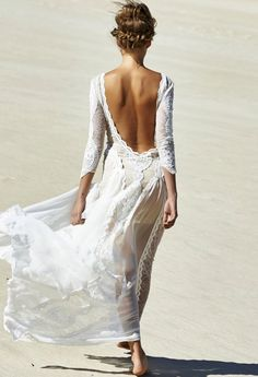 white, lace, texture, embroidery, dress, long sleeve, low back, long dress, applique