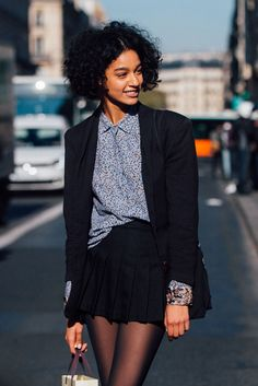 From models to rising street style stars, these are the fashion names to drop into conversation come Cute Fashion, Star Fashion, Vintage Fashion, Fashion Outfits, Business Casual Outfits, Professional Outfits, Damaris Goddrie, Curly Hair Styles, Black Curls