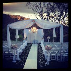 June Wedding Ideas   ... outdoor night time wedding isle   Wedding Ideas- June 1st
