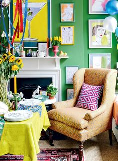 Luke Edward Hall is an interior designer, stylist and illustrator. He founded his eponymous range of soft furnishings and fabrics in Shelves In Bedroom, One Bedroom, Edward Hall, Design Apartment, Interior Decorating, Interior Design, Design Design, Decorating Ideas, Paintings