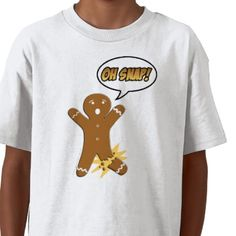 Oh Snap! Funny Gingerbread Man Tee Shirt from http://www.zazzle.com/cookie+party+tshirts