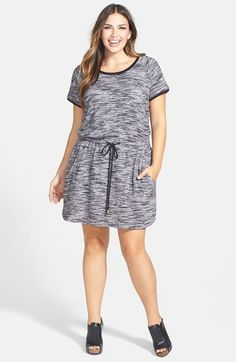 City Chic 'Athletic' Terry Tunic Dress (Plus Size) available at #Nordstrom