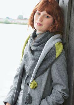 Lana Grossa COLOURBLOCKING-DREIECKSTUCH Cool Wool Big - FILATI Accessoires No. 16 - Modell 25 | FILATI.cc WebShop